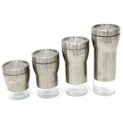 Cathay Importers Stainless Steel Glass Canisters, 3/Pack