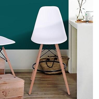 Rico Bar Chair, White, 2/Pack