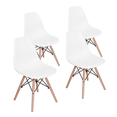 Rico Dining Chair, White, 4/Pack