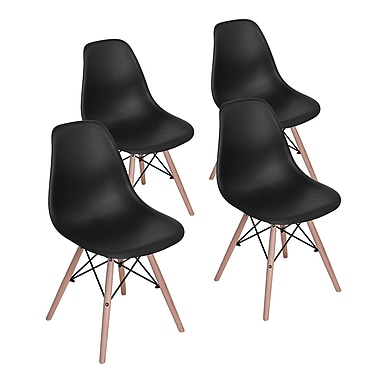 Rico Dining Chair, Black, 4/Pack
