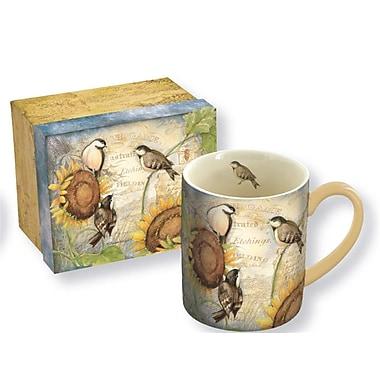 Lang Sunflower Birds 14oz Ceramic Mug