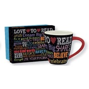 Lang ? Tasse de café en céramique « Dream Big » 17 oz