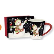 Lang Let it Snow 17oz Ceramic Cafe Mug, Gift Boxed