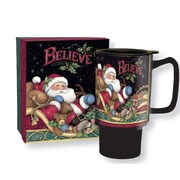 Lang Believe Santa 18oz Ceramic Travel Mug