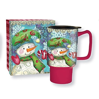 Lang Snowman Follies 18oz Ceramic Travel Mug
