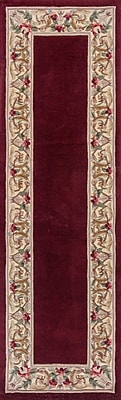 August Grove Valeriane Floral Bordered Area Rug; Runner 2'3'' x 7'6''