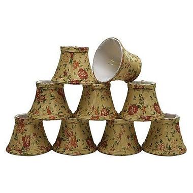 Aspen Creative Corporation 5'' Fabric Bell Candelabra Shade (Set of 9)