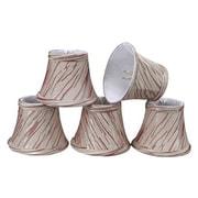 Aspen Creative Corporation 5'' Fabric Bell Candelabra Shade (Set of 5)
