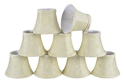 Aspen Creative Corporation 5'' Fabric Bell Candelabra Shade (Set of 9)