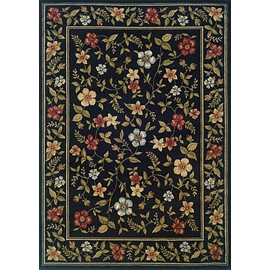 Charlton Home Albrightsville Black/Green Area Rug; Runner 1'10'' x 7'3''