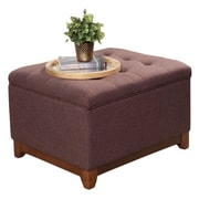 Alcott Hill Nunnally Upholstered Storage Cocktail Ottoman; Espresso Brown