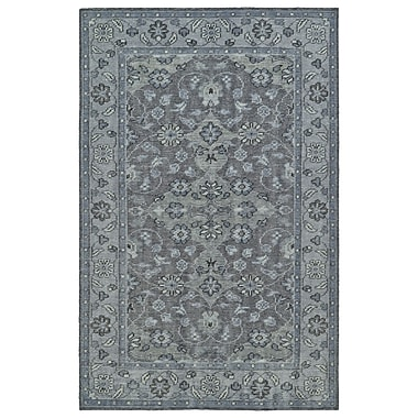August Grove Eugenia Hand-Knotted Grey Area Rug; 2' x 3'
