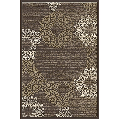 Charlton Home Ackermanville Brown Area Rug; Runner 2'2'' x 7'7''