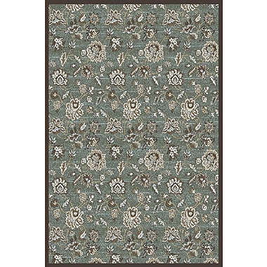 Charlton Home Ackermanville Green Area Rug; Round 5'3''
