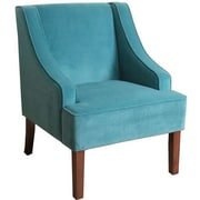 Charlton Home Boulevard Swoop Arm Chair; Teal
