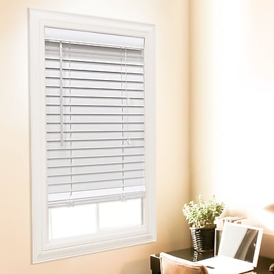 Charlton Home Faux Wood Venetian Blind; 72'' W x 72'' L