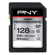 PNY 128GB High Performance Class 10 UHS1, U1 SD Flash Card