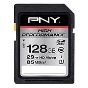 PNY P-SDXC128U185-G 128GB High Performance Class 10 UHS1, U1 SD Flash Card