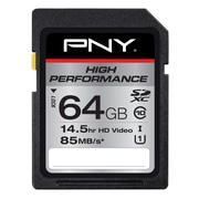 PNY 64GB High Performance Class 10 UHS1, U1 SD Flash Card,