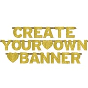 Amscan Create Your Own Custom Glitter Banner