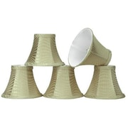 Aspen Creative Corporation 6'' Fabric Bell Candelabra Shade (Set of 5)