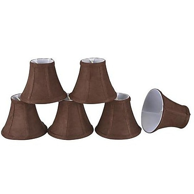 Aspen Creative Corporation 6'' Suede Bell Candelabra Shade (Set of 6)