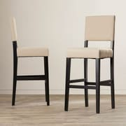 Latitude Run Murphy 29'' Bar Stool (Set of 2); Latte Beige