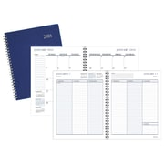 "2018 Staples® Medium Weekly/Monthly Planner, 14 Months, 6 7/8"" x 8 3/4"", Navy (26404-18-CC)"