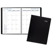 "2018 Staples® Large Monthly Planner, 14 Months, 8""x11"", Black (21496-18)"