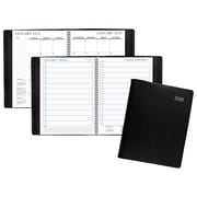 "2018 Staples® Large Daily Appointment Book/Planner, 8"" x 11"", Black (21487-18)"