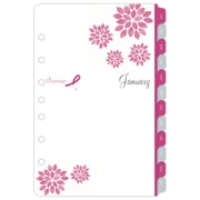 "2018 Day-Timer Two Page Per Week Refill, Desk Size, 5-1/2""x8-1/2"", Pink Ribbon (14210-1801)"