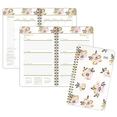 2018 Staples® Blossom Weekly/Monthly Planner, 4 7/8