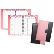 "2018 Day-Timer® Pink Ribbon Weekly/Monthly Planner, Journal Size, 5 1/2""x8 1/2"", Reversible Cover (88864-1701)"