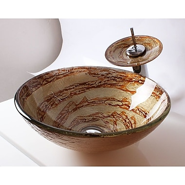 Arsumo Glass Round Vessel Bathroom Sink