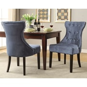 Chic Home Furniture Dickens Side Chair (Set of 2); Gray