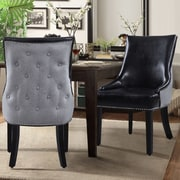 Chic Home Furniture Brando Side Chair (Set of 2); Black