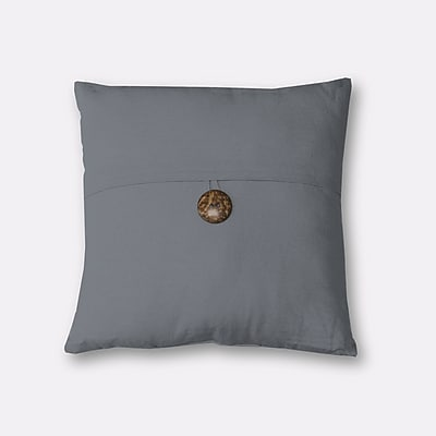 Red Barrel Studio Mullins Essex Button Decorative Throw Pillow; Gray