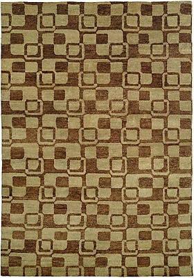Wildon Home Minh Hand-Knotted Gold/Brown Area Rug; 10' x 14'