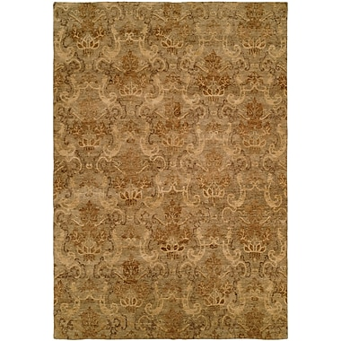 Wildon Home Seattle Hand-Knotted Beige Area Rug; 2' x 3'
