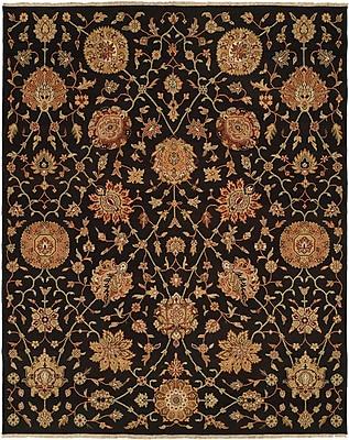 Wildon Home San Lorenzo Hand-Woven Black/Brown Area Rug; 4' x 6'