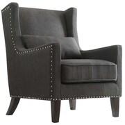Alcott Hill Cheltenham Wingback Arm Chair; Blue