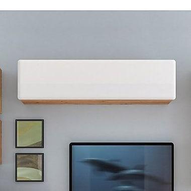 Contemp Style Possi 1 Door Accent Cabinet; Brown