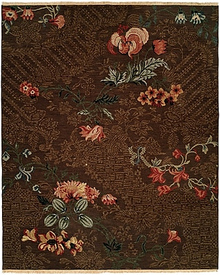 Wildon Home Tabaco Hand-Woven Brown Area Rug; 8' x 10'