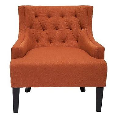 Alcott Hill Erwin Living Room Barrel Arm Chair; Pumpkin