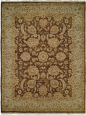 Wildon Home Shanghai Hand-Knotted Brown/Blue Area Rug; 10' x 14'