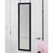 Latitude Run Over the Door Full Length Mirror; Black