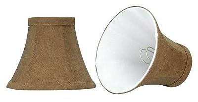 Aspen Creative Corporation 6'' Linen Bell Candelabra Shade (Set of 2)