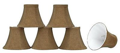 Aspen Creative Corporation 6'' Linen Bell Candelabra Shade (Set of 6)