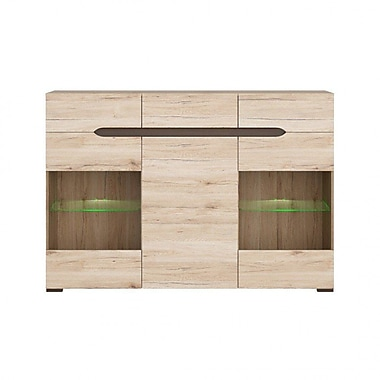 Contemp Style Elpasso 3 Drawer Accent Cabinet; Light Brown