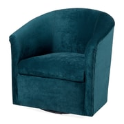 Latitude Run Galen Swivel Barrel Chair; Ocean